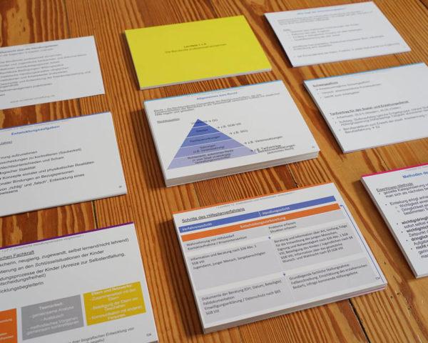 Lernkarten für die Erzieher Prüfung Ausbildung Übersicht