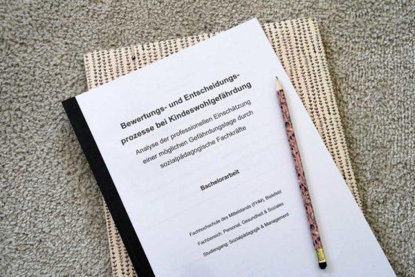 Bachelorarbeit zur Bewertung von Kindeswohlgefährdung